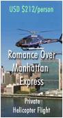 Romance Over Manhattan Private Helicopter Flight