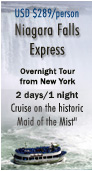 Niagara Falls Express: Overnight Tour from New York